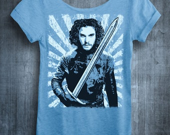 LIMITED EDITION Jon Snow Shirt. Jon Always Comes Back. Womens Off The Shoulder Oversized Slouchy Tee. Game of Thrones Shirt.