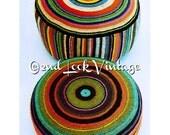 Vintage Crochet Pattern Giant Floor Cushion Pillow Dog Bed Chevron Bullseye 1970's Digital Download PDF