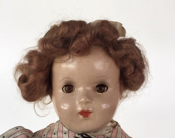Vintage Composition/ Cloth Doll c. 1940s By Gatormom13