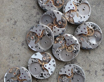 Vintage Watch Movements -- set of 9 -- D10