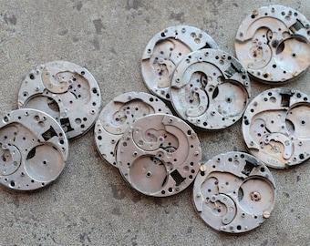Vintage Watch Movements parts -- plates -- set of 9 -- D16