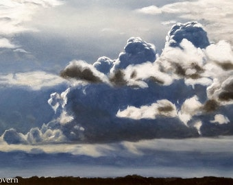 Storm Clouds 3/11/16. Original Oil Painting.