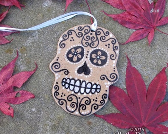 Skull Ornament - ceramic