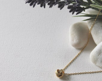 Knot Necklace in Silver/ Gold. Birthday Gift. Everyday Wear. Gift For Her (PNL-118)