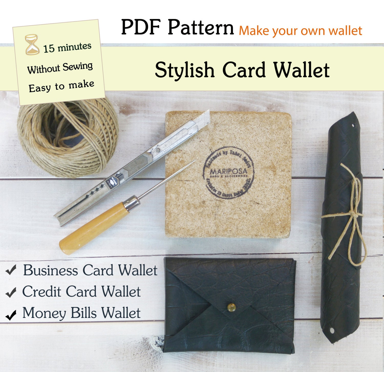 How to make wallet pattern pdf a4 wallet pattern pdf card zoom magicingreecefo Images