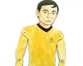 Mr. Sulu Star Trek Paper Doll