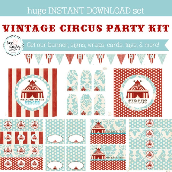 Vintage Circus Birthday, Circus Baby Shower, Circus Birthday Decorations, Circus Baby Shower Decorations, Circus Party Decorations