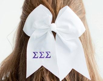 Monogram Sorority Hair Bow ~ Sigma Sigma Sigma ~ Big Little Bows ~ Sorority Hair Bow ~ Big/Little ~ Sorority Sisters ~ Cheap Sorority Gift