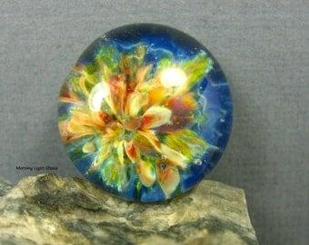 17mm Sea Blue Green Ocean Tide Boro Glass Cabochon Jewelry Supply
