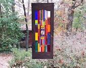New Glittering stained glass panel suncatcher glass art home and living stained glass window art glass home decor