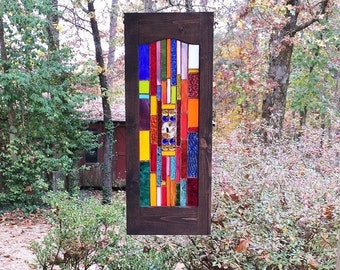 Glittering stained glass panel gift suncatcher glass art home and living stained glass window art glass home decor