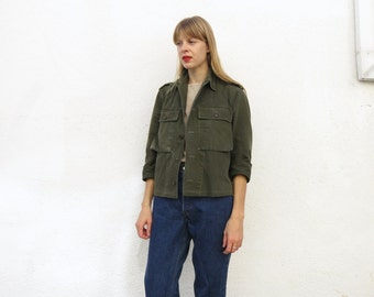 Military Jacket Shirt Cotton 50s