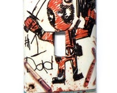 Deadpool Upcycled Previews Advertisement Handmade Light Switch Cover