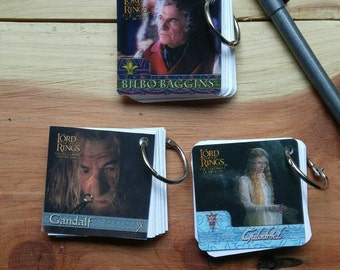 Lord of the Rings Mini Book Flash Card Book Notebook