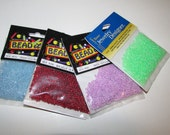 Seed Bead 10/0 packages - Estate Sale Find - 3/4 oz pkgs