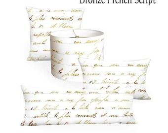 Bronze French Script Home Decor Coordinates