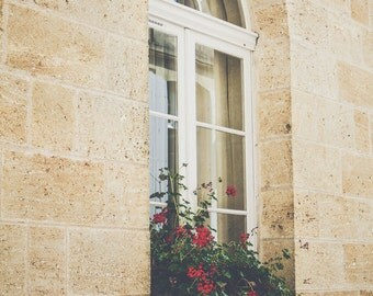 FRENCH Window, FRANCE Photography, Southern France, Rustic Art, Travel Print, Paris Photo, Europe, European, French, Francophile