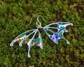 Purple Fairy Wing Earrings, Handmade, Blue Fairy Wing Earrings, Star Sprite, silver earrings, OOAK
