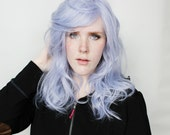 Pastel wig | Long Purple wig | Wavy Pastel Purple wig | Realistic wig for daily wear, cosplay wig and more | Freesia Pearl