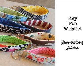 Key Fob Wristlet - Choose Custom Fabrics - Made to Order