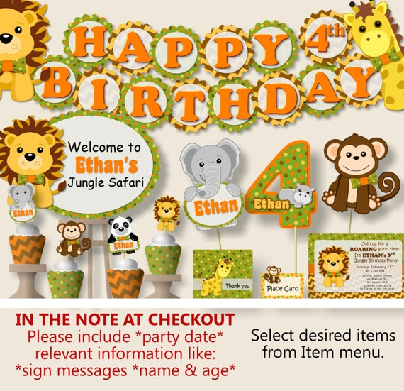 Safari Birthday Party Decorations Jungle Birthday Party