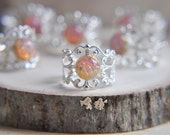 Fire Opal Ring, Opal Ring, Harlequin Opal Ring, Silver Ring, Silver Opal Ring, Birthstone Jewelry, October Birthstone, Fire Opalite, boho