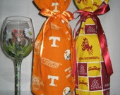 Tennessee Volts, Arizona State or Mississippi State Booze Bags, Wine Bottle Bags, Gift Bags