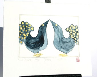 Two Birds - Original Etching