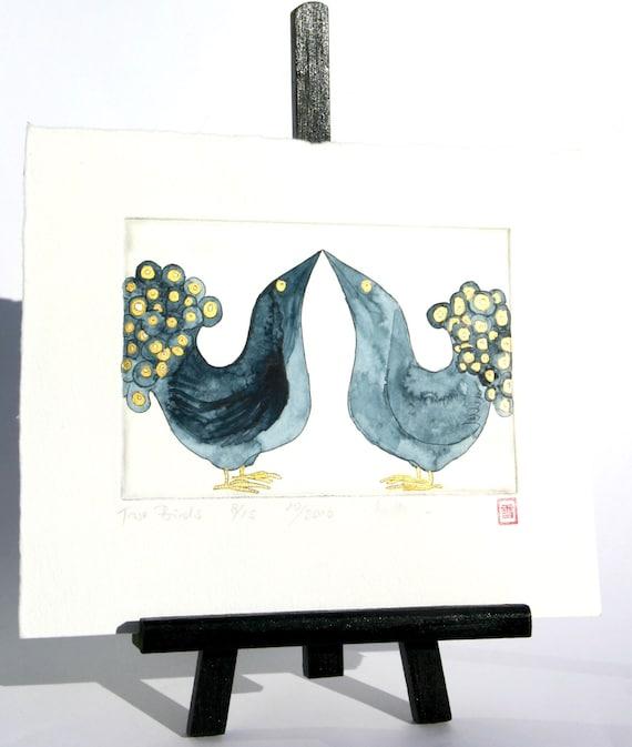 Two Birds - Original Etching