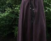 100% Wool Cloak with Hood Medieval Costume