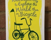 Explore the World, blank greeting card