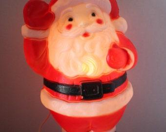 "Vintage Santa Claus St. Nick Kris Kringle Waving 19"" Light Up Blow Mold Empire 1968 Christmas Holiday Indoor Outdoor Decor"