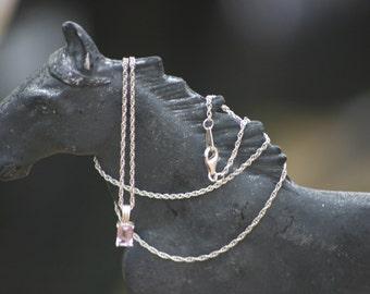 """925 Amethyst Pendant & 18"""" Silver Chain/Amethyst Necklace/Amethyst Jewellery/Amethyst Jewelery/February Birthstone/Purple Amethyst"""