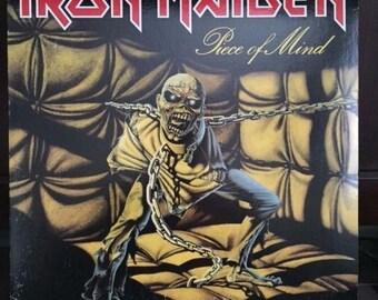 Vintage Iron Maiden Piece of Mind LP Record Vinyl Album VG 1983