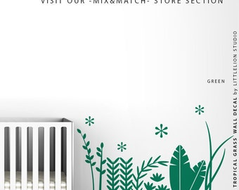 Tropical Grass Wall Decal by LittleLion Studio