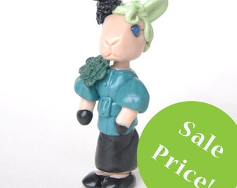 Effie Trinket inspired rabbit figurine from The Hunger Games