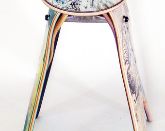 Recycled Skateboard Stool - No.585 by Deckstool. Reclaimed skateboards turned into cool skater chair. Free Shipping Worldwide.