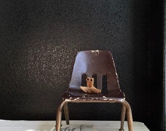 vintage children's old industrial plastic metal school chair / kid's reading chair / desk chair
