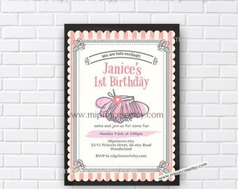 tutu invitation, Tutu Birthday Invitation baby girl 1st birthday , tutu invitation, 1st 2nd 3rd 4th 5th 6th 7th 8th 9th 10th - card 541