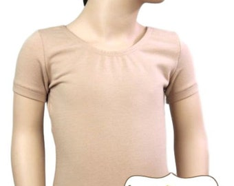 Nude Leotard-Ballet Short Sleeve Leotard (Children's)