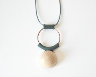 Minimalist Necklace | Geometric Necklace | Green