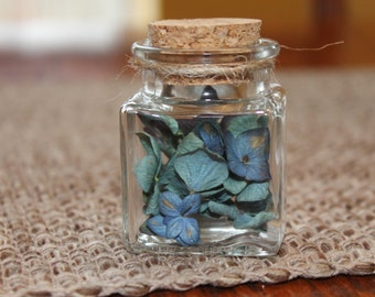 Dried Hydrangea Terrarium