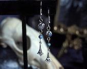 Elven Realm Silver Labradorite Earrings
