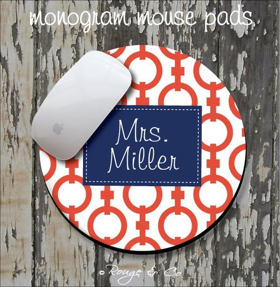 CHAIN Personalized Mouse Pad, Personalized Mousepad, Monogrammed Mouse Pad, Monogrammed Mousepad, Custom Mouse Pad, Custom Mousepad