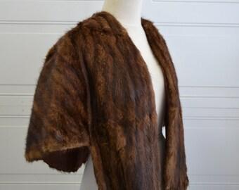 1930s Vintage Mink Fur Capelet