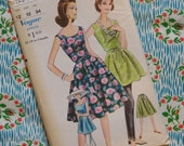 Vintage 1950s 1960s Sewing Pattern / VOGUE / Chic Wrap Dress or Tunic and Slacks or Wrap Skirt / UNCUT FF / Size 12 - 32 Bust