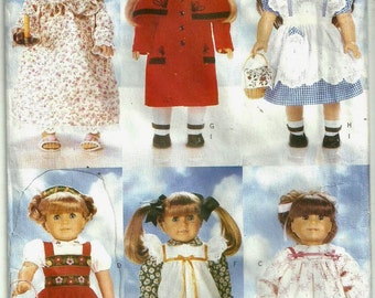 1996 Butterick pattern, AMERICAN GIRL doll clothes dresses, Uncut