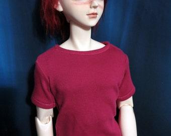 Dark Pink SD 70cm BJD Black T-shirt