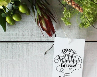 Thanksgiving Tags - Holiday Gift Tags | Thanksgiving Gift Tags | Thanksgiving Table | Thanksgiving Hostess Gift Tag  - Set of 12