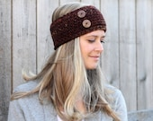 Cozy Woman's Headband Ear Warmer in Sequoia- Marble Maroon- Other colors available